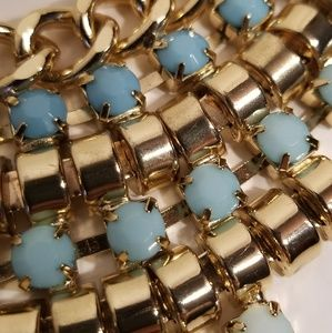 Jewelry - BLUE GOLD BIB FASHION NECKLACE